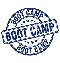 Boot camp blue grunge round vintage rubber stamp vector