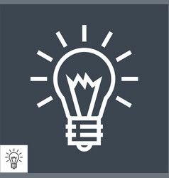 bulb thin line icon vector image