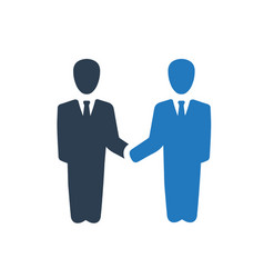 Business partnership icon vector