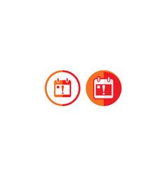 calendar alert logo icon vector image
