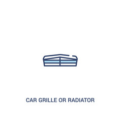 Car grille or radiator grille concept 2 colored vector