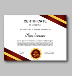 Certificate of appreciation template trendy vector