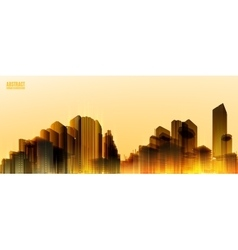 City Skylines Light night background Panorama vector image