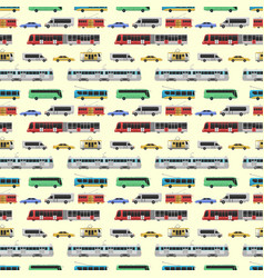 City transport set vector