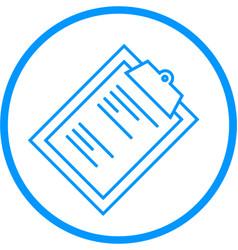 clipboard line icon vector image