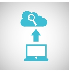 computer connected cloud browser vector image