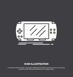 Console device game gaming psp icon glyph symbol vector