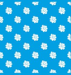 coronavirus pattern seamless blue vector image
