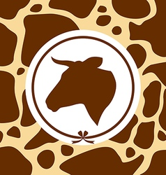 Cow background vector
