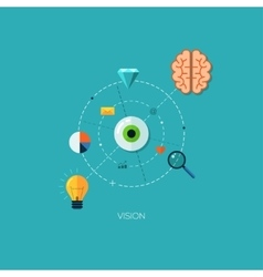 Creative process vision flat web infographic vector