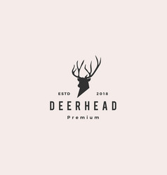 Deer head logo icon vector