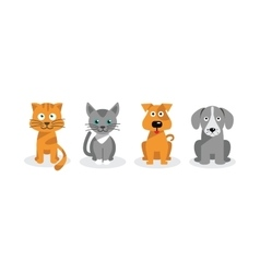 Dogs and cats vector image