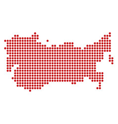 Dotted pixel ussr map vector