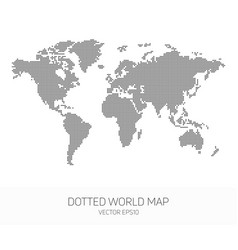 dotted world map vector image