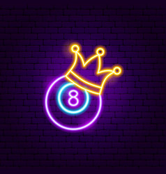 eight ball neon sign vector image