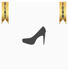 female shoes web icon design vector image