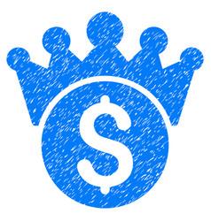 Financial power grunge icon vector