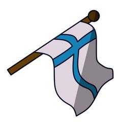Finland flag emblem vector