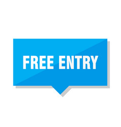 free entry price tag vector image