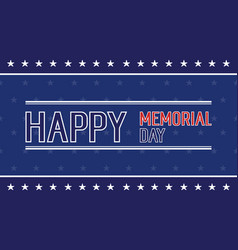 Happy memorial day style collection vector