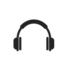 Headphone icon earphone headset sign vector