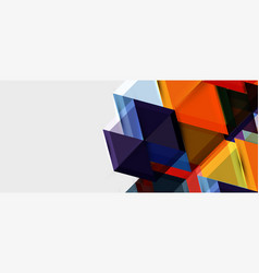 hexagon abstract background geometrical modern vector image