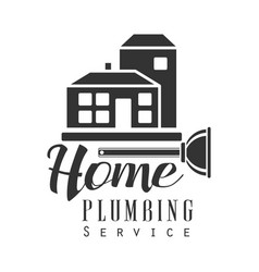 Home plumbing repair and renovation service black vector