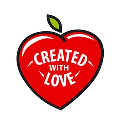 logo heart in the form of fruit vector image