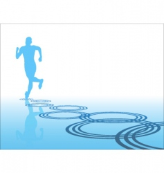 lone runner vector image vector image
