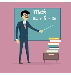 Mathematics Learning Concept vector