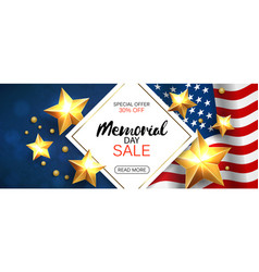 Memorial day sale promotion advertising horizontal vector