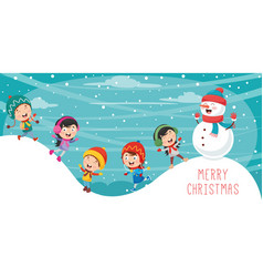 of christmas vector image