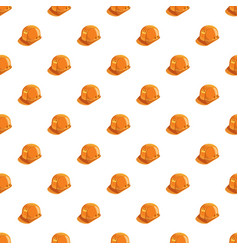 Orange construction helmet pattern vector