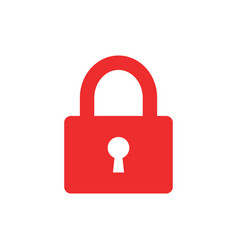 padlock icon in flat style lock unlock security vector image