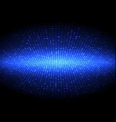 perspective halftone dots techno design vector image
