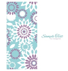Purple and blue floral abstract vertical vector