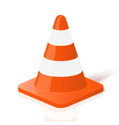 Realistic traffic cone in vector