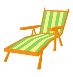 Recliner icon cartoon style vector