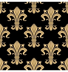 Royal golden fleur-de-lis seamless pattern vector image