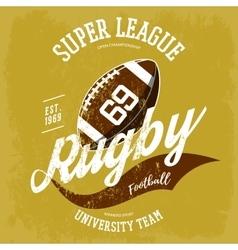 rugball logo for t-shirt branding design vector image