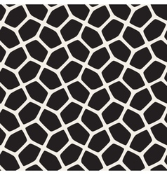 Seamless Black and White Rounded Mosaic vector image