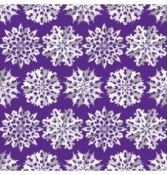 Seamless christmas origami snowflake pattern vector