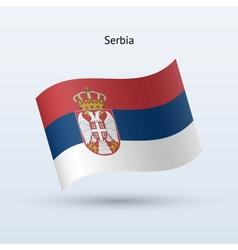 Serbia flag waving form vector image