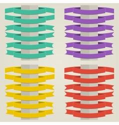 Set Flat Ribbons vector image
