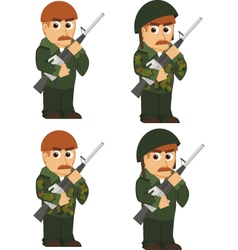 set of soldiers vector image