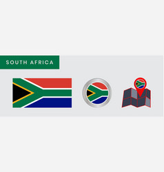 Simple south african flag is isolated vector