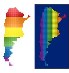 Spectrum pixel dotted argentina map vector