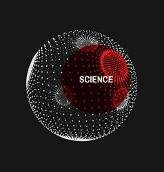 sphere consisting of points global digital vector image