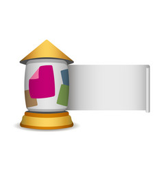 stand pillar for outdoor advertising vector image