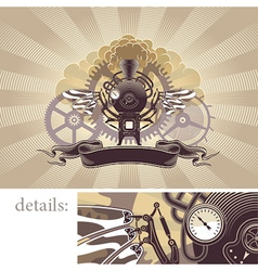 steampunk graphic design vector image